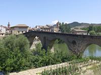 Blick zurück auf Puente la Reina