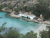Die Badebucht in Cala Pi