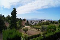 Blick auf die Alhambra, Granada und die Vega von Granada