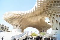Der neue Markt von Sevilla, im Soutterain Ausgrabungen der mittelalterlichen und antiken Stadt