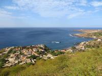 Blick auf Cidade Velha vom Fort