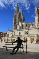 Burgos - Kathedrale mit Pilger