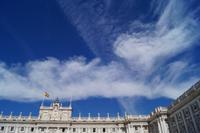 07-10-2016 Madrid, Wolkenspiele überm Königspalast
