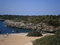 Felsküste in Cala Pi