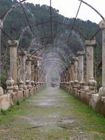 Wasserweg in den Gärten von Alfabia