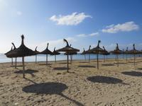 Am Strand gegenüber dem Hotel Gran Fiesta