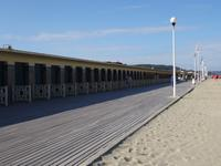 Deauville, Spaziergang am Strand