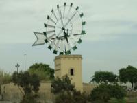 Typische Windmühle auf Mallorca