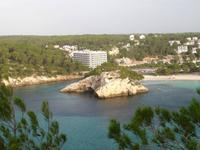 Blick auf die Bucht von Cala Galdana