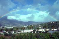 Regenbogen über der Caldera de Taburiente