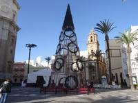 Weihnachtsschmuck in Cádiz