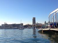 traumhafter Sonnenschein am Hafen Barcelonas