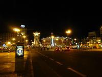 Blick auf Placa Espanya und unser Hotel Catalonia Plaza