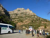 Fotostopp mit Blick auf Montserrat