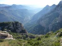 traumhafter Ausblick von Felsenkloster Montserrat