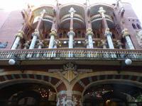 Vor dem Palau de la Musica - ein Meisterwerk von Lluis Montaner