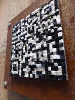 typisch Barcelona - Vereinigung des modernen mit der Kuns - QR-Code aus Kacheln