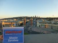 Blick von der Hotelterasse auf Placa Espanya