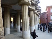 Säulen im Park Güell
