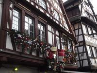 Geschmückte Fenster in Straßburg