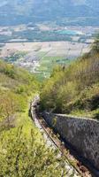 Auf der Zahnradbahn nach Saint-Hilaire du Touvet