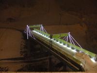 Hotelbrücke im Schnee