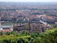 Lyon - Blick von der Basilika auf die Kathedrale