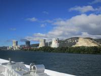 Rhone. Atomkraftwerk Cruas Meysse