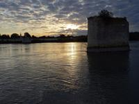 Arles - Sonnenuntergang beim Auslaufen der A-ROSA