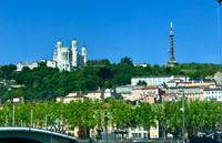Lyon - Blick auf den Hügel Fourviere
