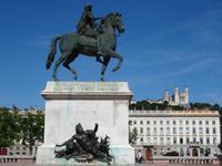 Lyon - Place Bellecour mit Denkmal von Louis XiV