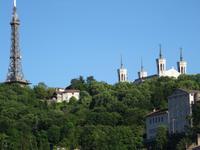 Lyon - Auslaufen entlang der Altstadt , ein letzter Blick zurück