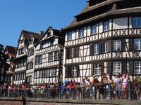 Strasbourg - Fahrt auf der Ill , Petite France = Klein-Frankreich