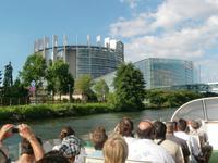Strasbourg, Bootsfahrt, Europaparlament