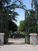 11.5.2015 Dijon, Eingang zum Parc Darcy
