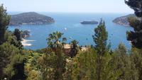 Blick auf Villefranche und die Halbinsel St. Jean Cap Ferrat