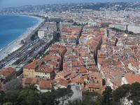 Blick auf die Altstadt von Nizza vom Schlosshügel