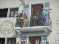 Chamonix. Fresko, Saussure