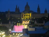 Barcelona, Park Montjuic vom Hotel Catalunya Plaza