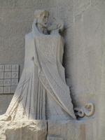 Sagrada Familia. Passionsfassade. Judaskuss