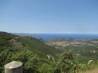Panorama Pass oberhalb von Bastia