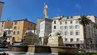 Korsika, Ajaccio, Napoleon Brunnen