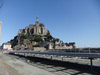 Mont St.-Michel, Stelzenbrücke im Bau
