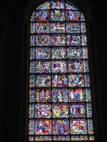 Chartres. Fenster Westseite. Maria, Jesus