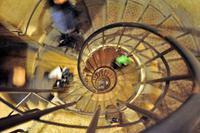 Treppe für den Aufstieg im Arc de Triomphe