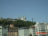 Blick auf den Fourvierehügel in Lyon
