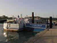 Unser Schiff auf der Rhone