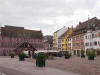 Auf dem Marktplatz von Mulhouse