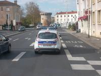 Polizeieskorte zum Hotel in Poitiers