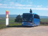 unser Bus - Parkplatz in Numantia